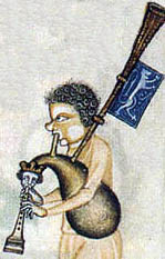 Bagpipe Player from the Luttrell Psalter 1320-40