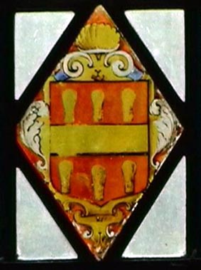 The Arms of Midgley from a window at Bolling Hall, Bradford.