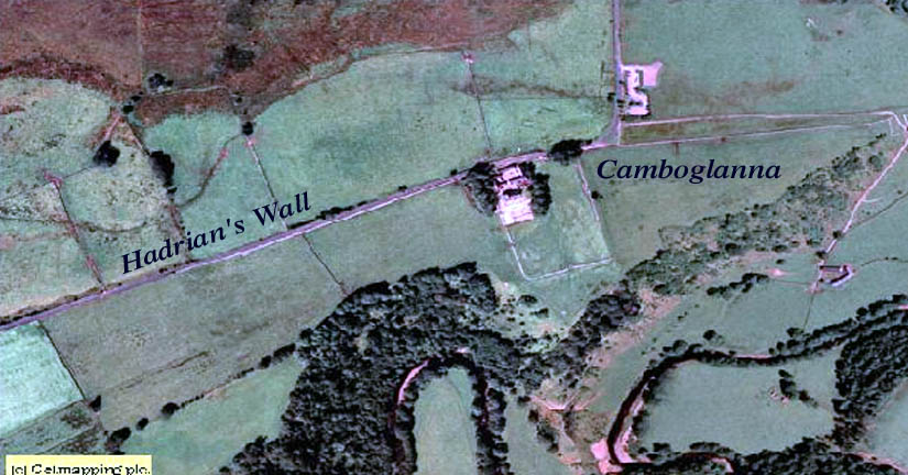 aerial view of Birdoswald