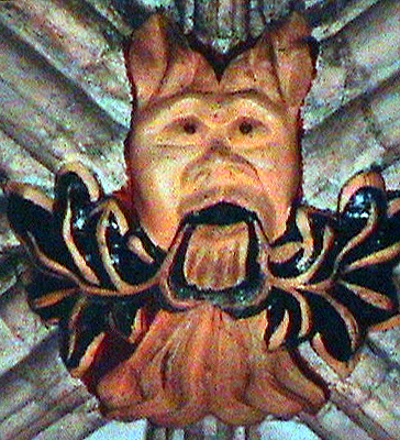 Greenman in the chapter house of York minster