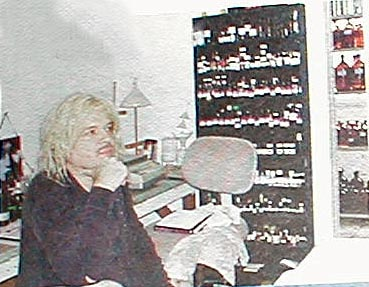 Jonathon Midgley in his laboratory