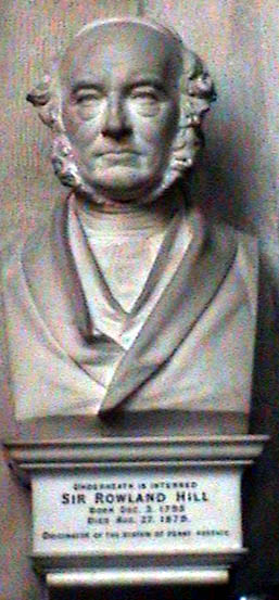 Bust of Sir Rowland Hill, Westminster Abbey