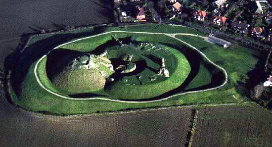 Sandal Castle from the air