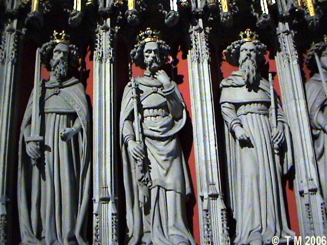 The three king Edwards in York Minster