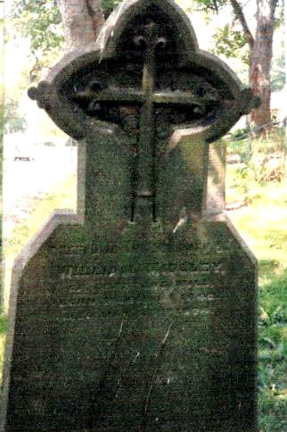 Headstone of William Midgley died Ledston 1874