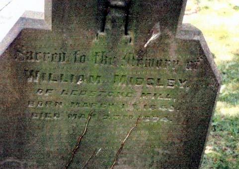 William Midgley died 1874  Ledston